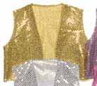 gold sequin vest
