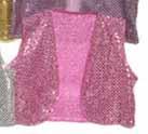 Pink Sequin Vest