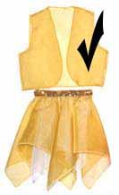 Gold Sparkle Sheer Vest