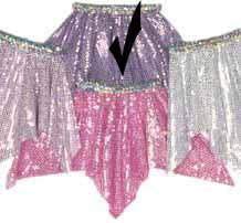 Lavender Sequin Hanky Skirt