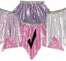 Pink Sequin Hanky Skirt