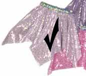Light Pink Sequin Hanky Skirt
