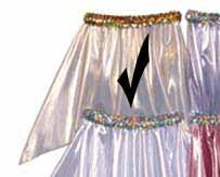 Light Gold Foil Hanky Skirt