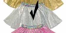 Silver Sequin Circle Skirt