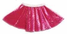 Pink Panne Velvet Circle Skirt