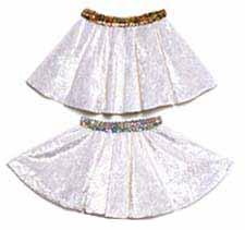 White Panne Velvet Circle Skirt