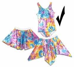 Tie Dye Tank Leotards for girls