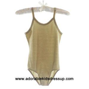 Gold Metallic Camisole Leotards for girls