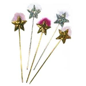 Sequin Star Wand with Feather (1 pc.)