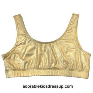 Girls Sports Bras – Gold Foil Sports Bras