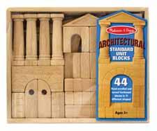 Melissa Doug Architectural Wood Blocks