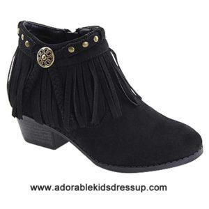 Child Booties – black heels