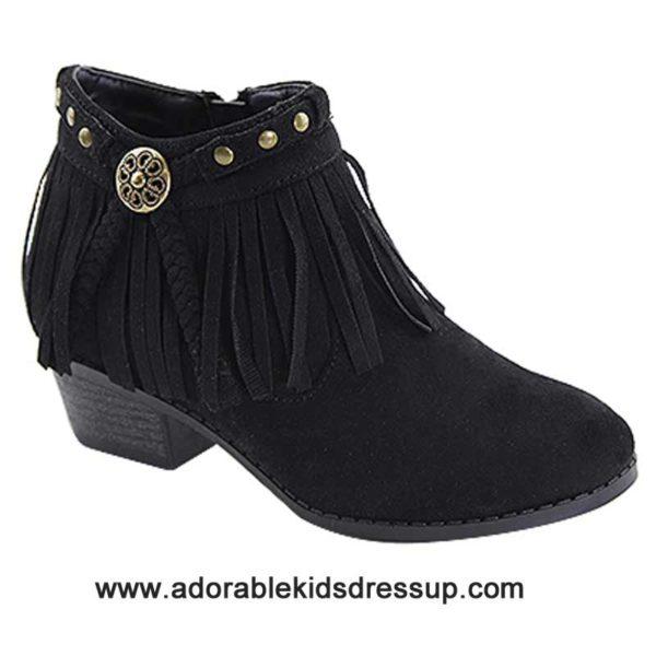 child high heel booties