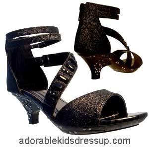 Little Girls High Heel Shoes – black