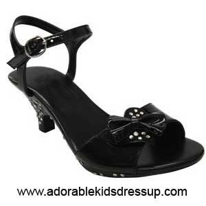 Girls High Heel Shoes – black pat