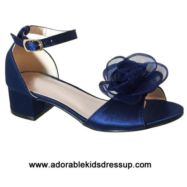 kids blue high heels