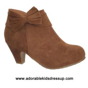 Little Girls Booties – brown heels