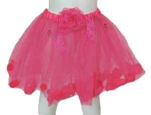 Dark Pink Girls Tutu Skirt