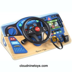 wooden dashboard driving toy