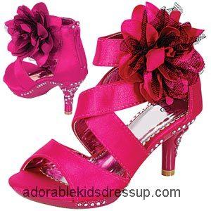 Girls High Heel Shoes – fuchsia