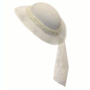 Flower Girl Hat – Silver Sparkle (1pc.)