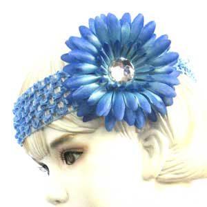 Girls Flower Headbands – blue