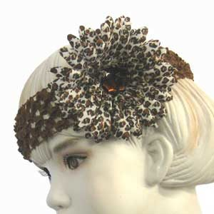 Girls Flower Headbands – brown