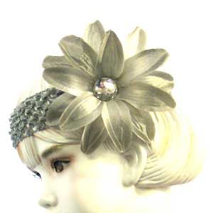 Girls Flower Headbands – silver