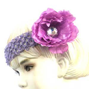 Girls Flower Headbands – purple