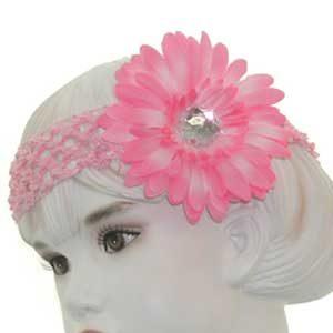 Girls Flower Headbands – pink