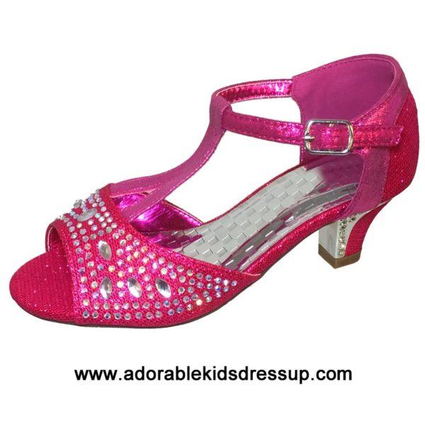 fuchsia high heels for kids