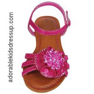 Little Girls Flat Sandals – fuchsia