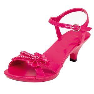 Girls High Heel Shoes -fuchsia