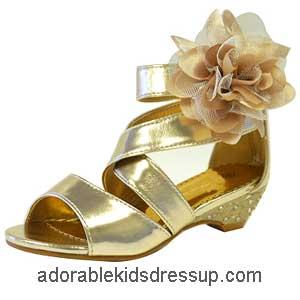 kids gold high heels