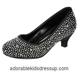 Girls Party Shoes – black