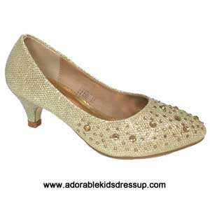 child high heel pumps