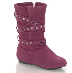girls purple dressy boots