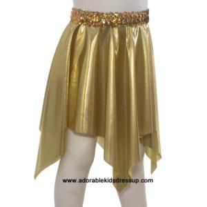 Gold Foil Hanky Skirt