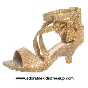 Girls High Heel Shoes – gold