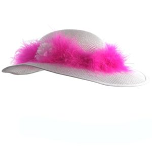 Tea Party Hats with Narrow Feather (1pc.)