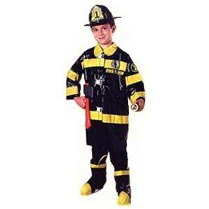 Boys Fireman Costume-Black
