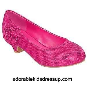 kids pink pumps