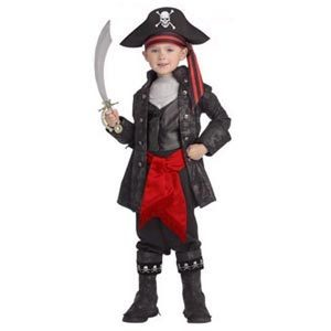 Boys Captain Black – boys pirate costume