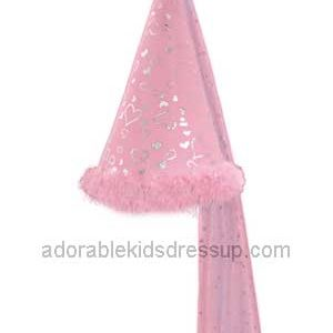 Girls Princess Hat with pink feather trim