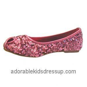 Girls Flats – pink sequin