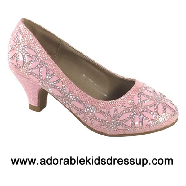 kids dress shoes   pink heels