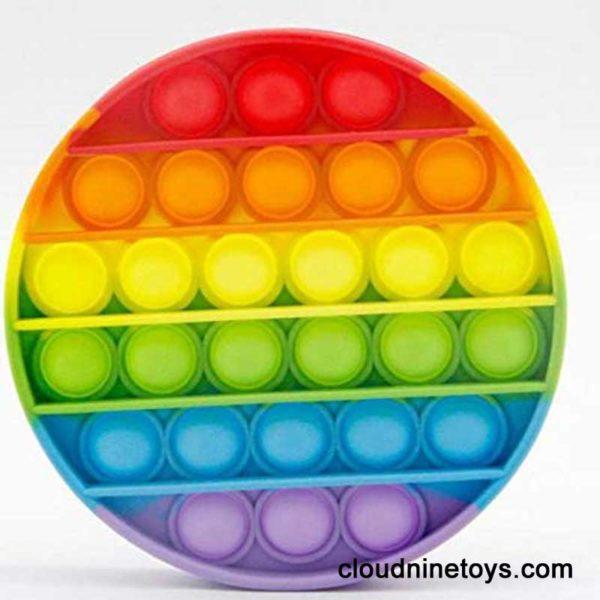 push pop rainbow fidget toy