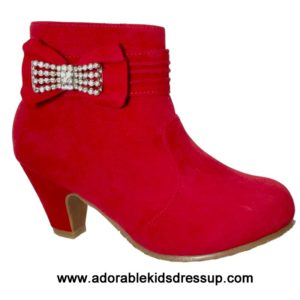 Girls Ankle Boots – red