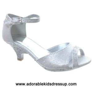 Kids High Heels – silver