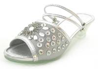 Girls High Heels – silver beads